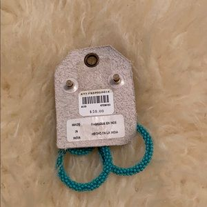 Anthropologie Jewelry - Beaded Turquoise Earrings